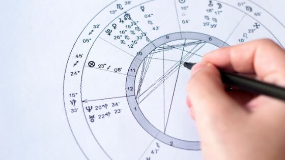 drawing astrology chart